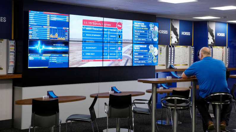 Inside of a William Hill bookmakers