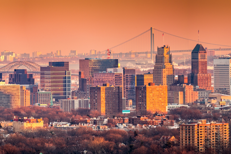 Newark skyline New Jersey
