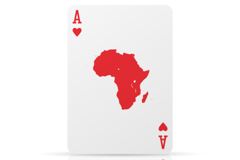 Africa gambling card