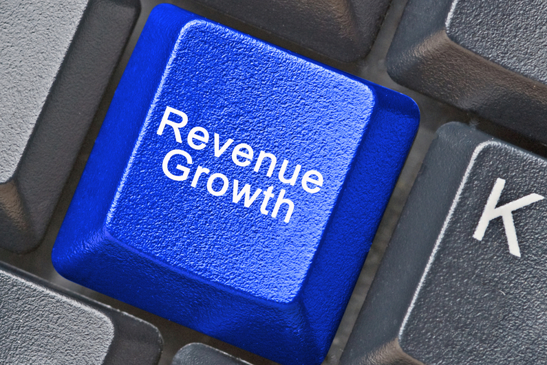 Revenue Growth on keyboard