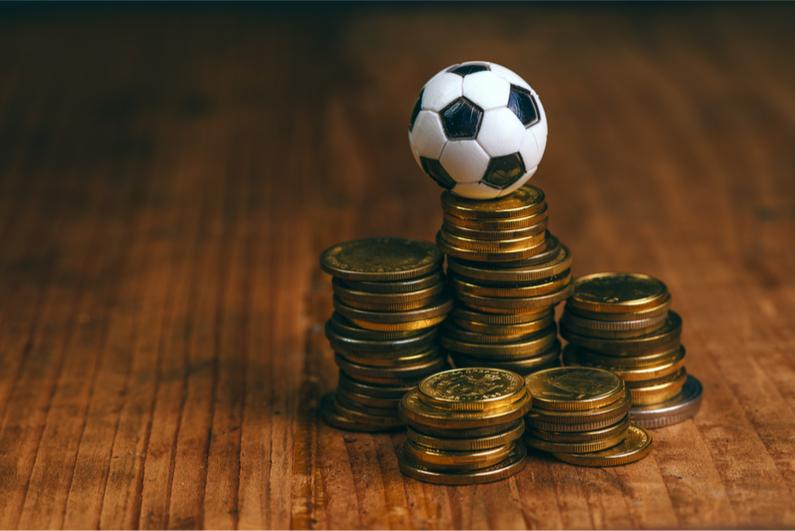 soccer bet concept small ball