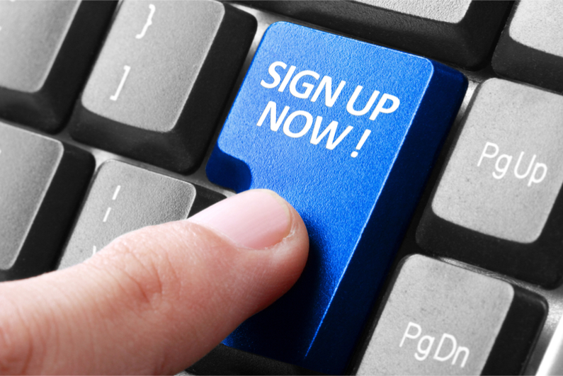 Signing up to betting sites