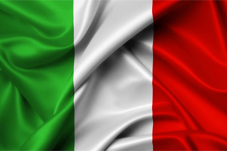 Silk Italian flag