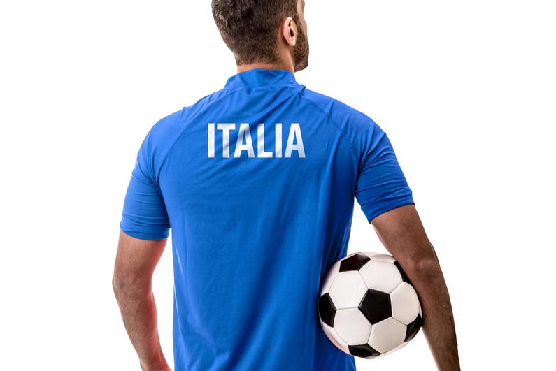 Athlete in Italian uniform