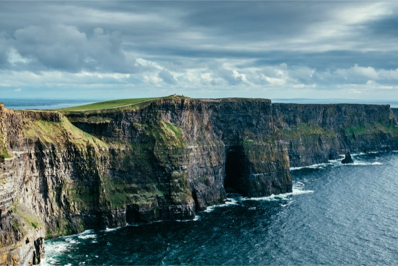 The famous Cliffs of Moher on the coast of Ireland