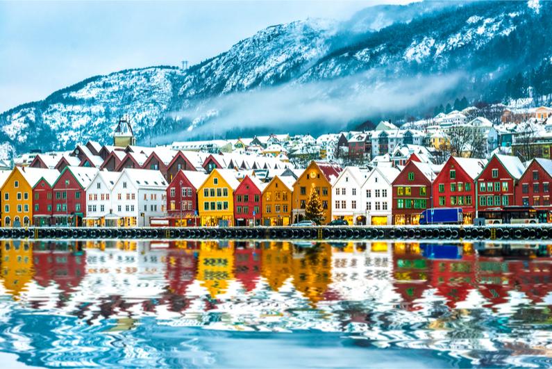 view of Bruges, Bergen, Norway