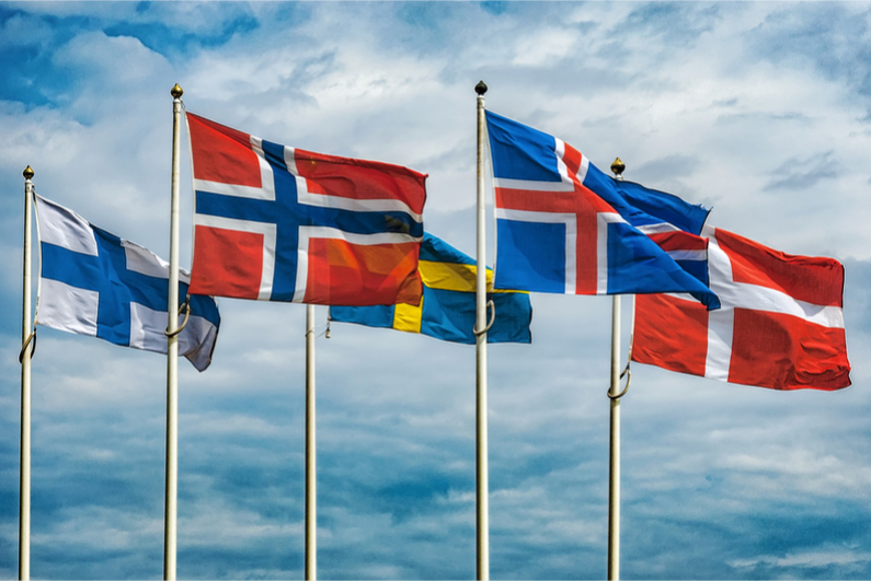 Flags of the Scandinavian countries