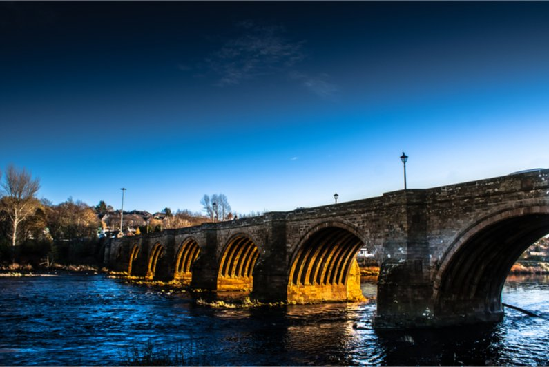 Bridge over the river Don in Aberdeen