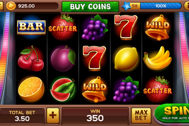 Fruit bar on a slot machine
