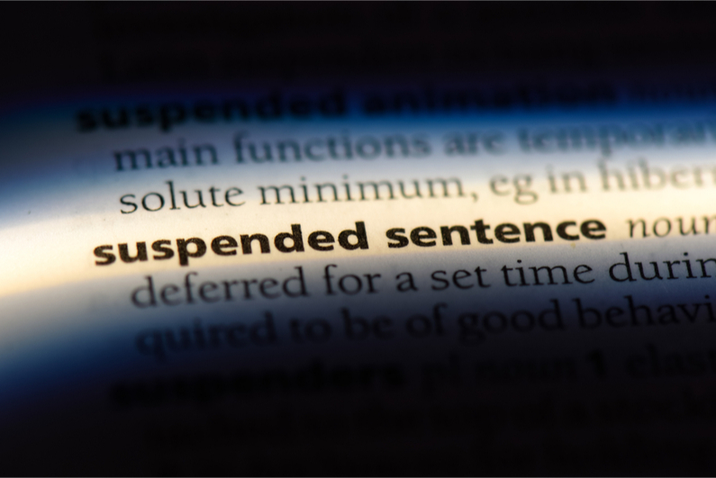 dictionary definition of suspended sentence