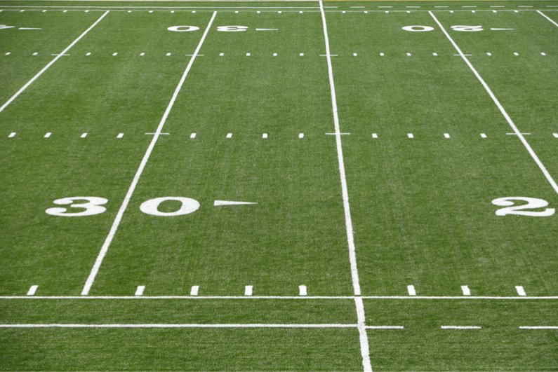 Portion of American football field