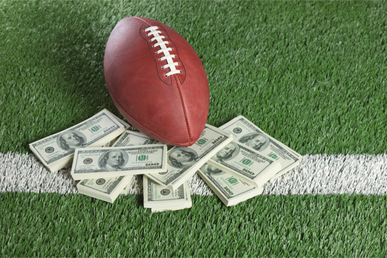 American football and dollars