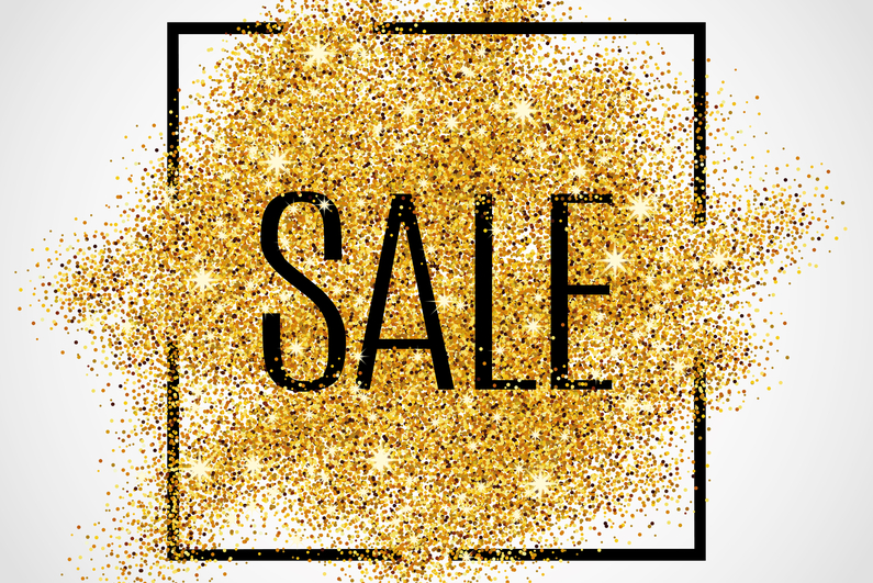 Gold sale background in frame