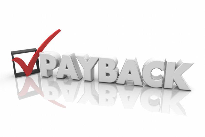 Payback Revenge Getting Even Justice Check Mark Box 3d Illustration