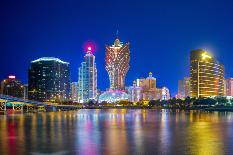 Macau skyline at night
