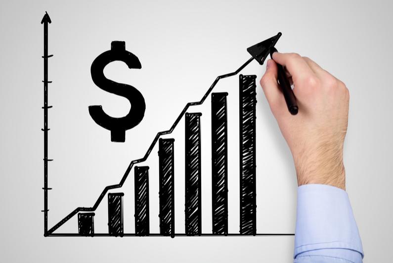 Revenue increase graph