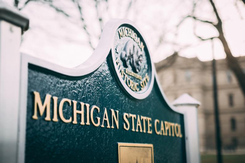 Michigan State Capitol sign