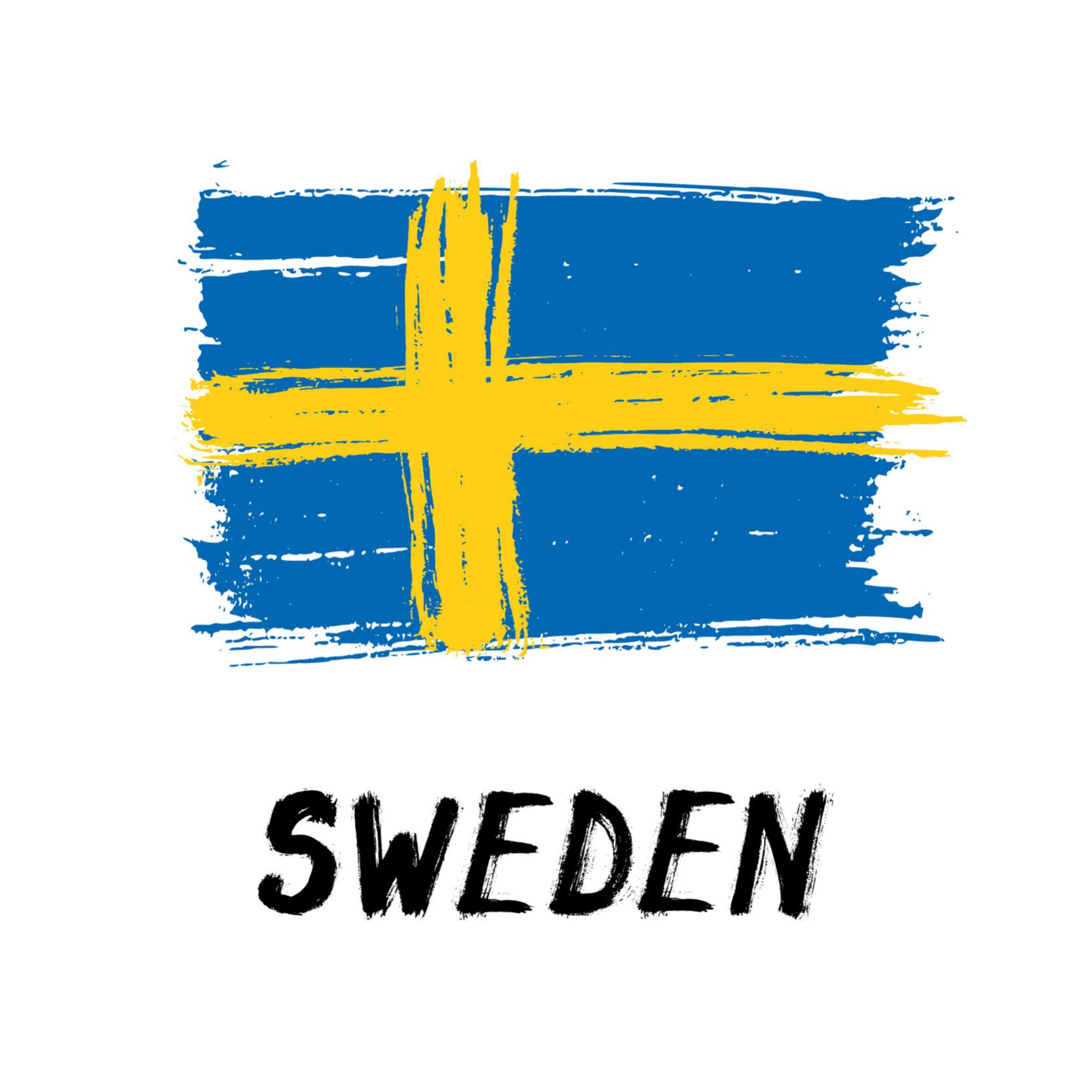 Flag of Sweden, grunge style