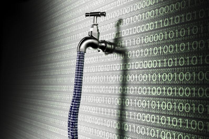 Data leak concept