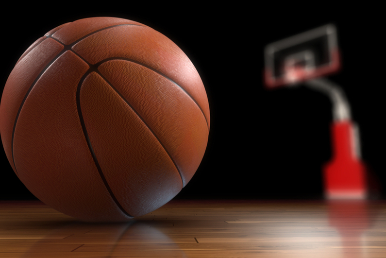 3D rendering of a basketball