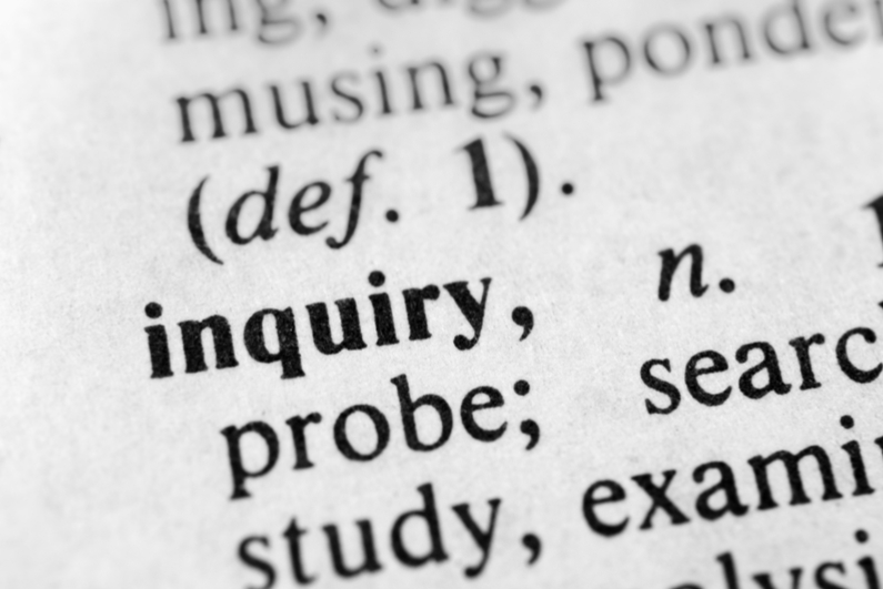 """inquiry"" in the dictionary"