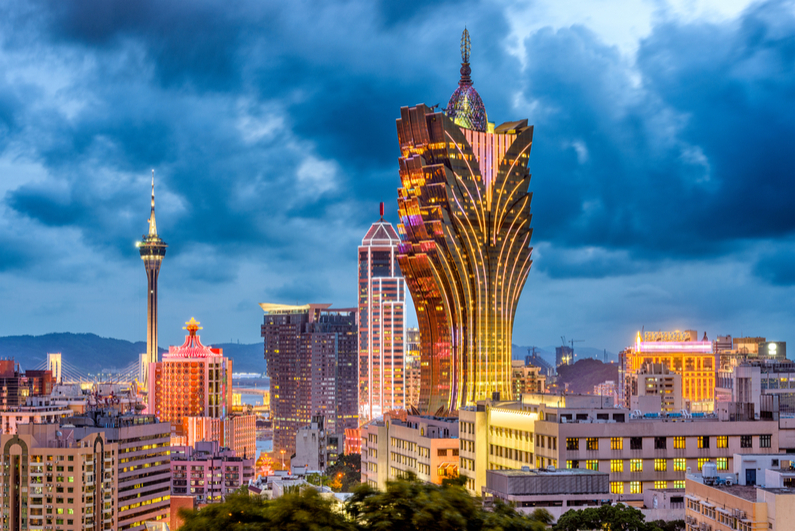 Macau skyline at dusk