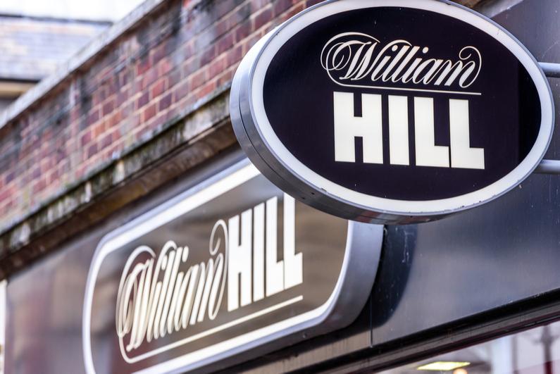 William Hill betting sign in Northampton, UK