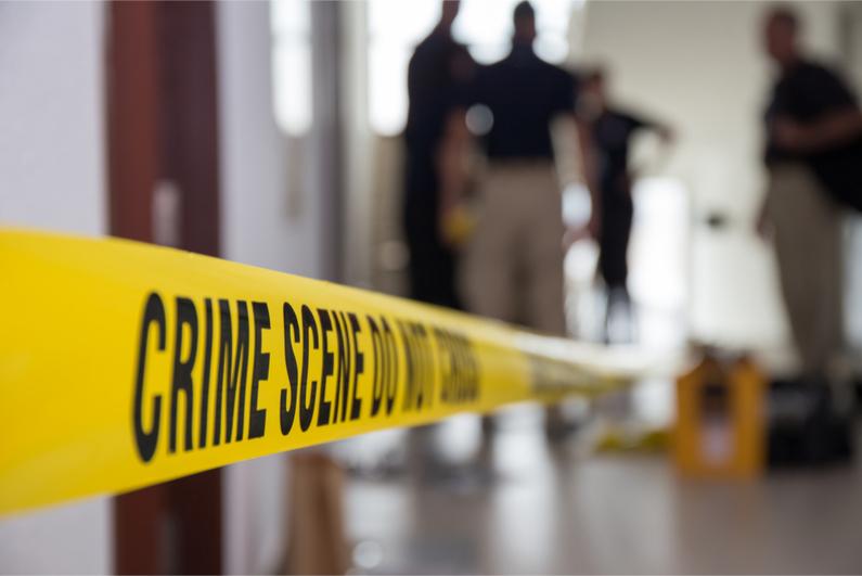 Murder crime scene tape