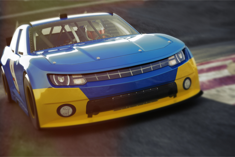 Motor racing car