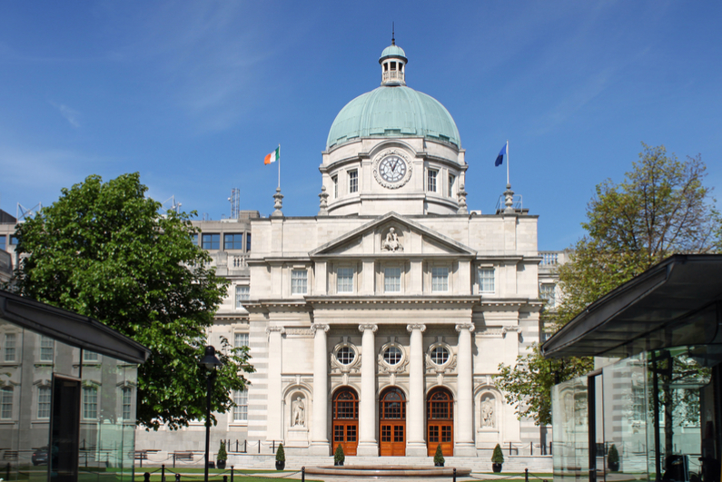 The Dáil building in Dublin