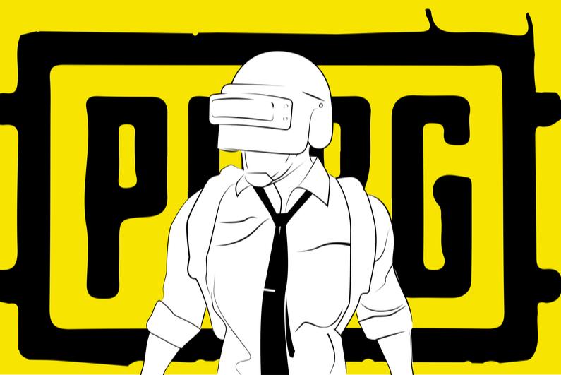 Silhouette of PUBG player in uniform