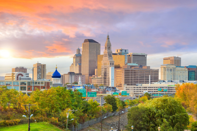 Skyline of downtown Hartford, Connecticut