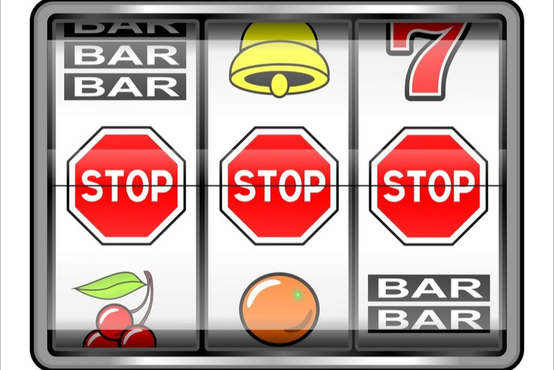 3 STOP warnings on slot machine