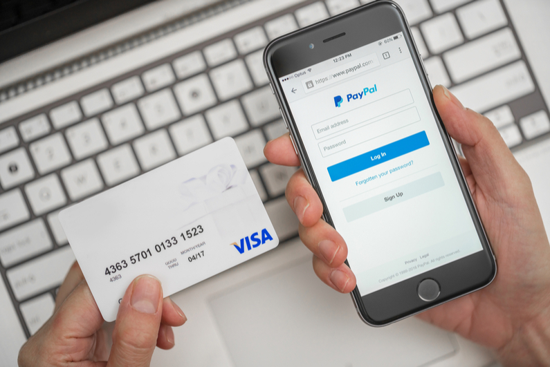 Using PayPal with a phone