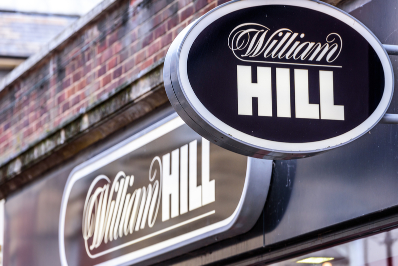 William Hill betting shop sign