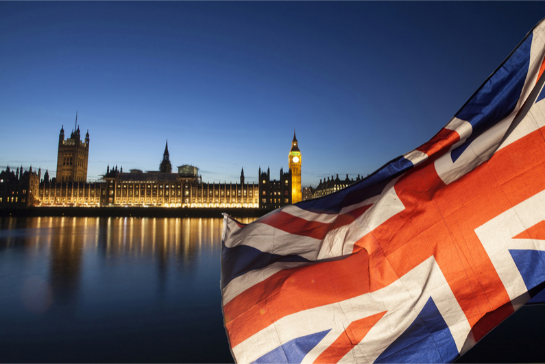 Westminster and the Union Flag