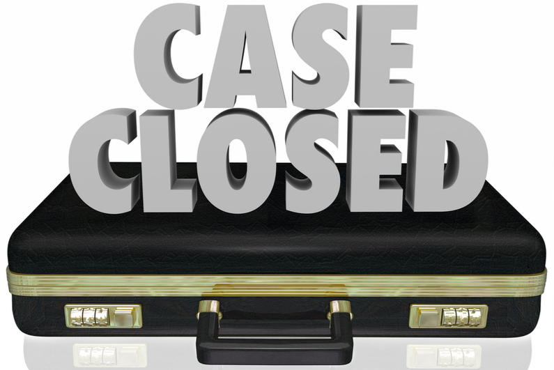 Cased closed with Las Vegas Sands
