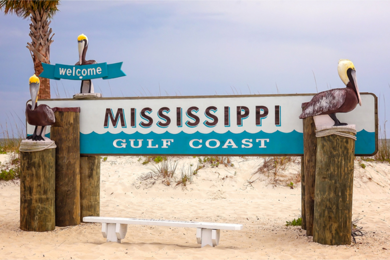 A sign for the Mississippi Gulf Coast