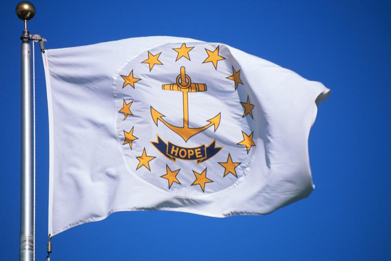 The Rhode Island state flag