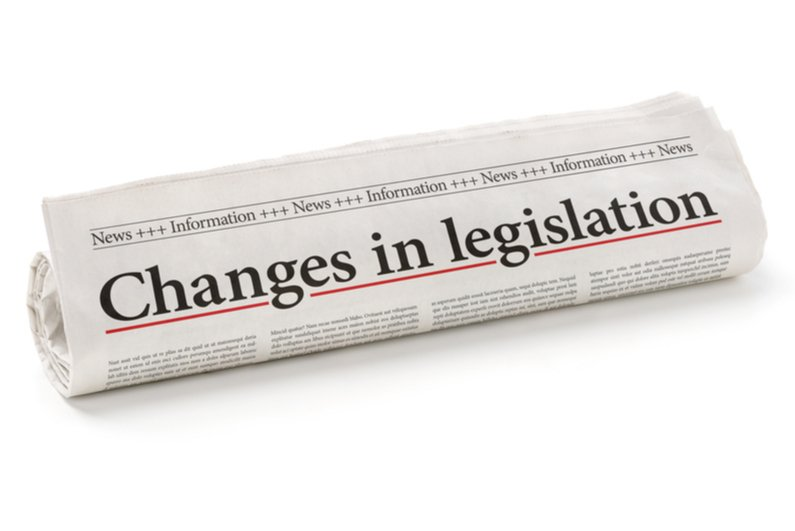 Changes in legislation