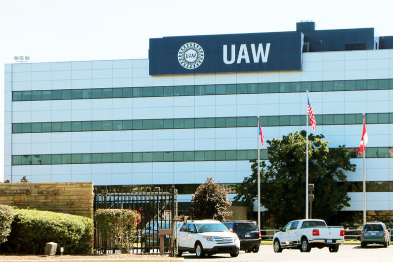 The UAW headquarters in Detroit