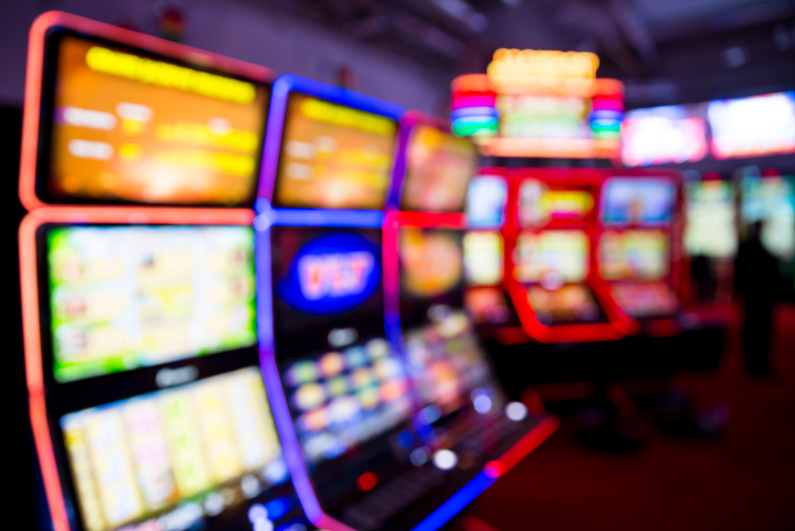 Blurred view of casino equipment