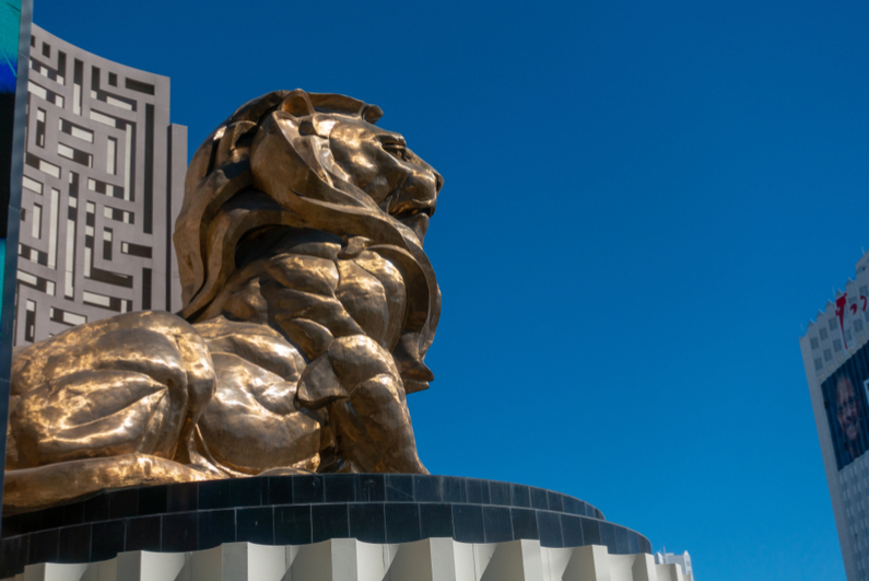 Statue of MGM lion in Las Vegas