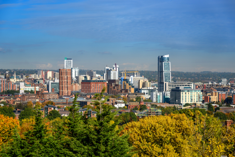 Leeds city skyline
