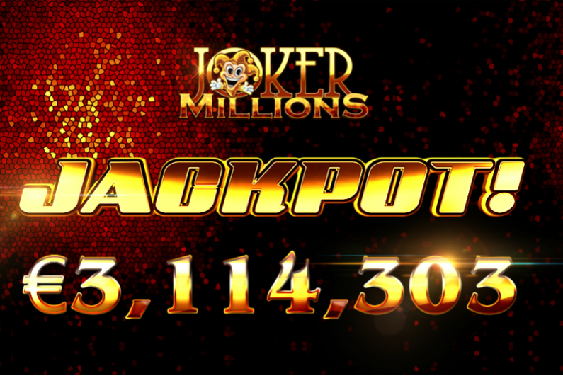 An anonymous player has won €3.1m on Joker Millions, for a stake of just €1.25.
