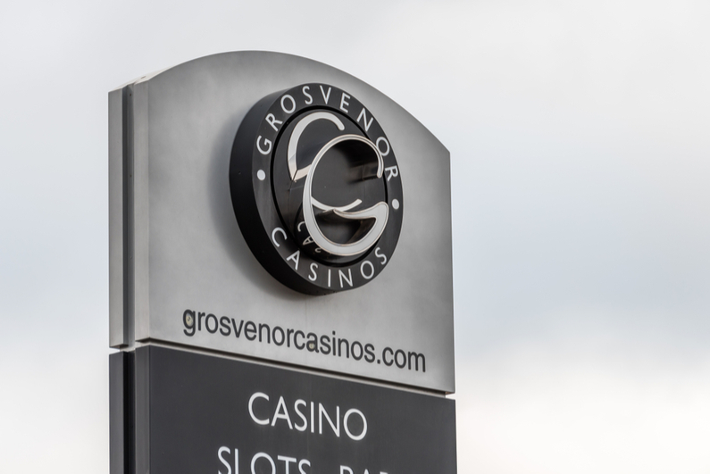 Grosvenor Casino log sign
