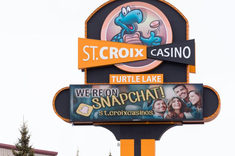 St. Croix Casino sign