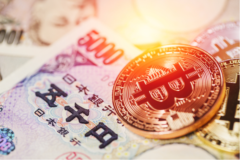 Bitcoin with Japanese currency