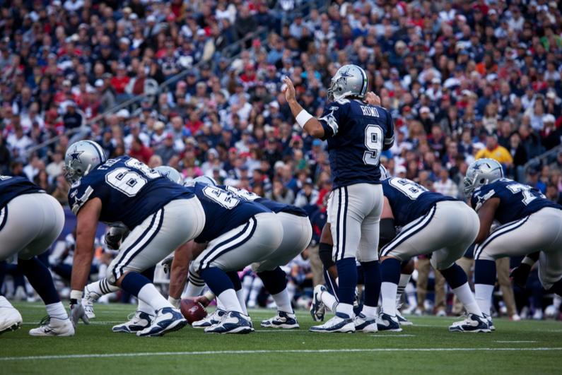 No. 9 is Tony Romo as Dallas Cowboys' quarterback