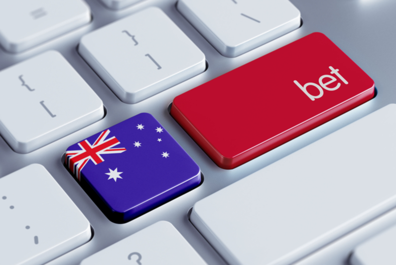 Australia flag and BET button on keyboard
